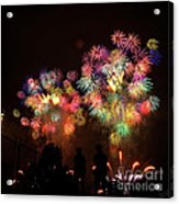 Macy's July 4th Fireworks New York City  Acrylic Print by Nishanth Gopinathan