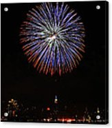 Fireworks Over The Empire State Building Acrylic Print by Nishanth Gopinathan