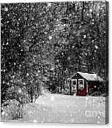 Made In Maine Winter  Acrylic Print by Brenda Giasson