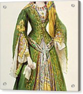Mademoiselle Rachel As Roxanne In Bajazet Acrylic Print by Achille Deveria