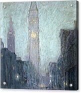 Madison Avenue At Twilight Acrylic Print by Lowell Birge Harrison