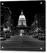 Madison Wi Capitol Dome Acrylic Print by Trever Miller