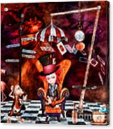 Madness In The Hatter's Realm Acrylic Print by Putterhug  Studio