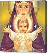 Madonna And Baby Jesus Acrylic Print by Zorina Baldescu