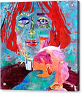 Madonna And Child Acrylic Print by Diane Fine