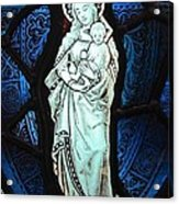 Madonna And Child Acrylic Print by Gilroy Stained Glass