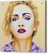 Madonna Acrylic Print by Rebelwolf