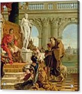 Maecenas Presenting The Liberal Arts To The Emperor Augustus Acrylic Print by Giovanni Battista Tiepolo