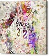 Magic Johnson Acrylic Print by Aged Pixel