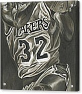 Magic Johnson - Legends Series Acrylic Print by David Courson
