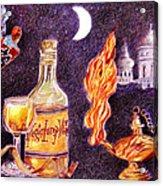 Magic Lamp Wine Acrylic Print by Candace  Hardy
