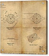 Magneto System Blueprint Acrylic Print by James Christopher Hill