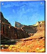 Magnificent Butte Acrylic Print by Marty Koch