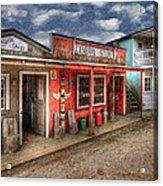 Main Street Acrylic Print by Debra and Dave Vanderlaan