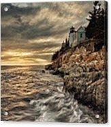 Maine Lighthouse Acrylic Print by Chad Tracy