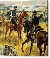 Major General George Meade At The Battle Of Gettysburg Acrylic Print by Henry Alexander Ogden