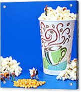 Making Popcorn Acrylic Print by Paul Ge