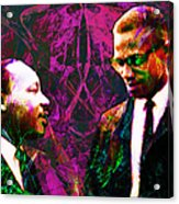 Malcolm And The King 20140205m68 Acrylic Print by Wingsdomain Art and Photography