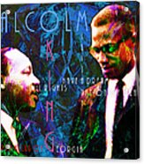 Malcolm And The King 20140205p180 With Text Acrylic Print by Wingsdomain Art and Photography