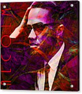 Malcolm X 20140105m28 With Text Acrylic Print by Wingsdomain Art and Photography