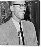 Malcolm X Acrylic Print by Ed Ford