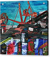 Man And Machines Acrylic Print by R Kyllo