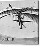 Man Gliding In 1883 Acrylic Print by Underwood Archives