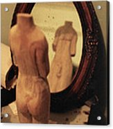 Man In The Mirror Acrylic Print by David  Cardona