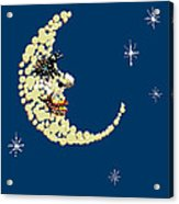 Man In The Moon Dazzled Acrylic Print by R  Allen Swezey