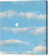 Man In The Moon In The Clouds Acrylic Print by Fortunate Findings Shirley Dickerson