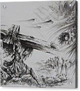 Man Of Sorrows Acrylic Print by Rachel Christine Nowicki