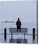 Man On Bench Acrylic Print by Joana Kruse