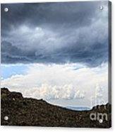 Man On Mountain Acrylic Print by Konstantin Sutyagin