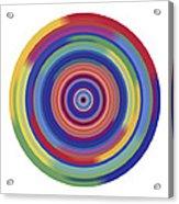 Mandala 3 Acrylic Print by Rozita Fogelman