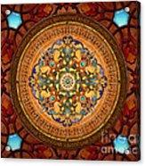 Mandala Arabia Sp Acrylic Print by Bedros Awak