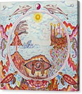 Mandala Atlanits Acrylic Print by Lida Bruinen