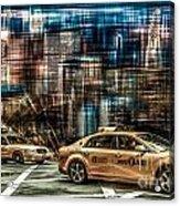 Manhattan - Yellow Cabs - Future Acrylic Print by Hannes Cmarits