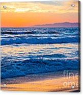 Manhattan Beach Sunset Acrylic Print by Inge Johnsson
