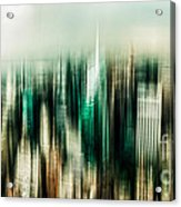 Manhattan Panorama Abstract Acrylic Print by Hannes Cmarits