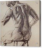 Man's Back Acrylic Print by Sarah Parks
