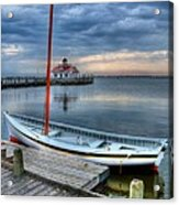 Manteo Waterfront 2 Acrylic Print by Mel Steinhauer