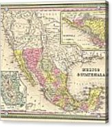 Map Of Mexico Acrylic Print by Gary Grayson