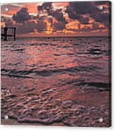 Marathon Key Sunrise Panoramic Acrylic Print by Adam Romanowicz