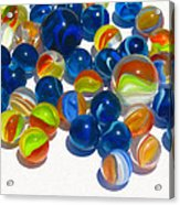 Marbles Acrylic Print by Dale Jackson