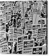 March On Washington Acrylic Print by Benjamin Yeager