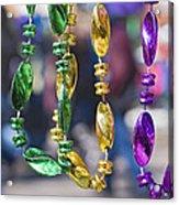 Mardi Gras Beads Acrylic Print by Ray Devlin
