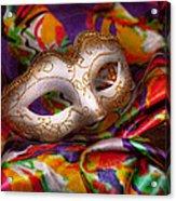 Mardi Gras - Celebrating Mardi Gras  Acrylic Print by Mike Savad