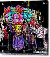 Mardi Gras Vendor's Cart Acrylic Print by Marian Bell