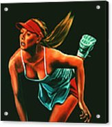 Maria Sharapova  Acrylic Print by Paul Meijering