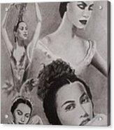 Maria Tallchief Acrylic Print by Amber Stanford